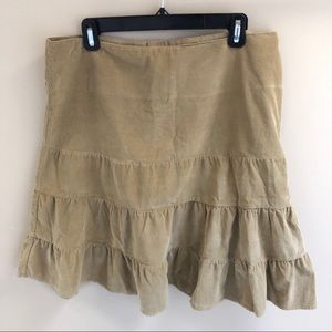 American Eagle Outfitters 12 Corduroy Skirt Tan